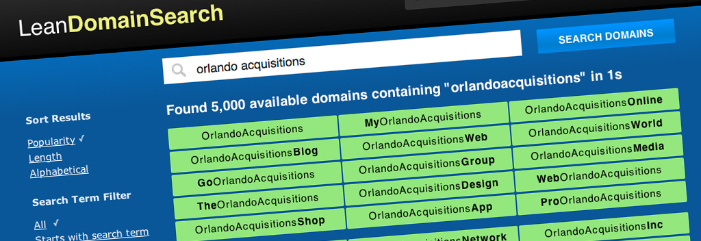 Orlando's Own Lean Domain Search Acquired by Automattic